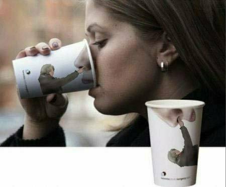 Kaffeebecher Nasebohren