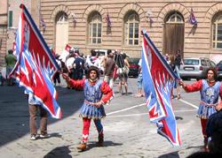 Palio in Siena Fahnen