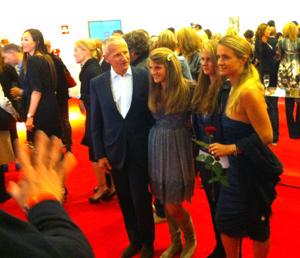 Andrea Illy mit Frau und Töchtern