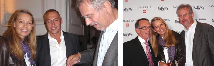 Andrea Zappalorto und Wolfgang Krah von illy Caffe mit Anne und Alexander Duhre