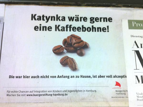 Katynka wäre gerne eine Kaffeebohne