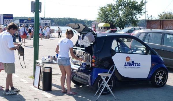 Promtion mit Lavazza Smart am Fähranleger Klaipeda Litauen