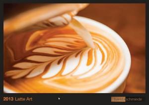 Latte Art Kalender 2013 Baristaschmiede.de