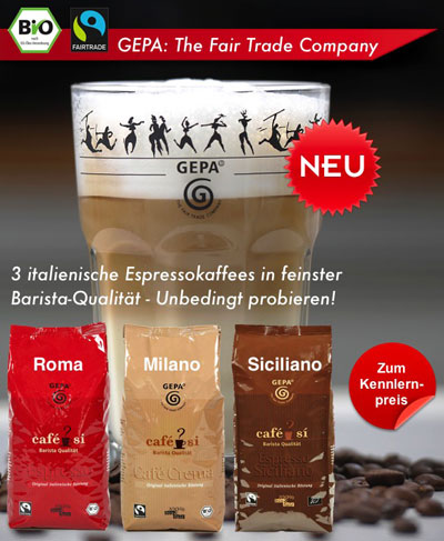 3 Italienische Espressokaffees zum Kennlernpreis