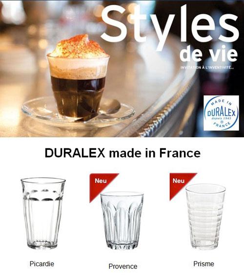Duralex Picardie, Provence und Prisme Gläser