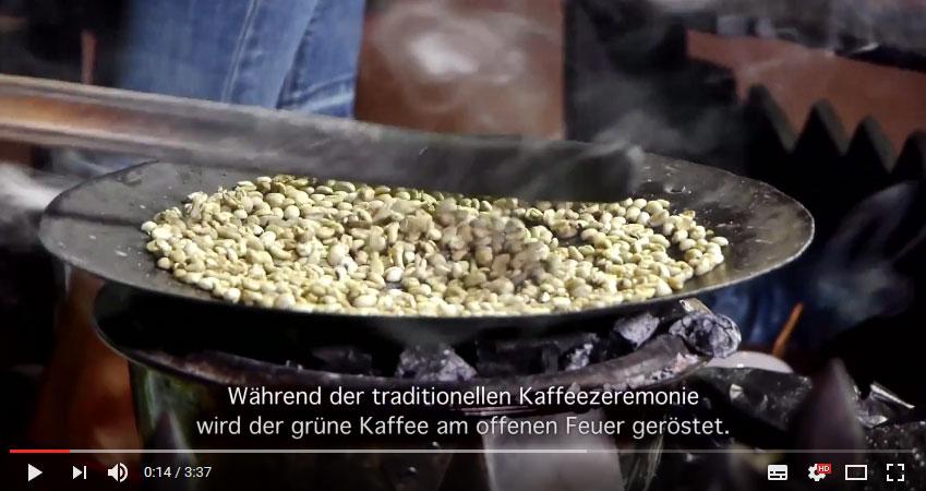 Traditionelle Kaffeezeremonie