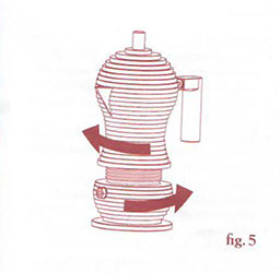 Espressokanne Pulcina Figur 5- aufschrauben