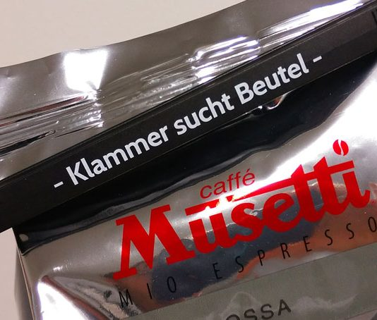 Klammer sucht Beutel
